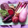 お弁当に入れる紫色の食材は?